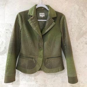 Armani Collezioni {6} Jacket Metallic Ombré Green